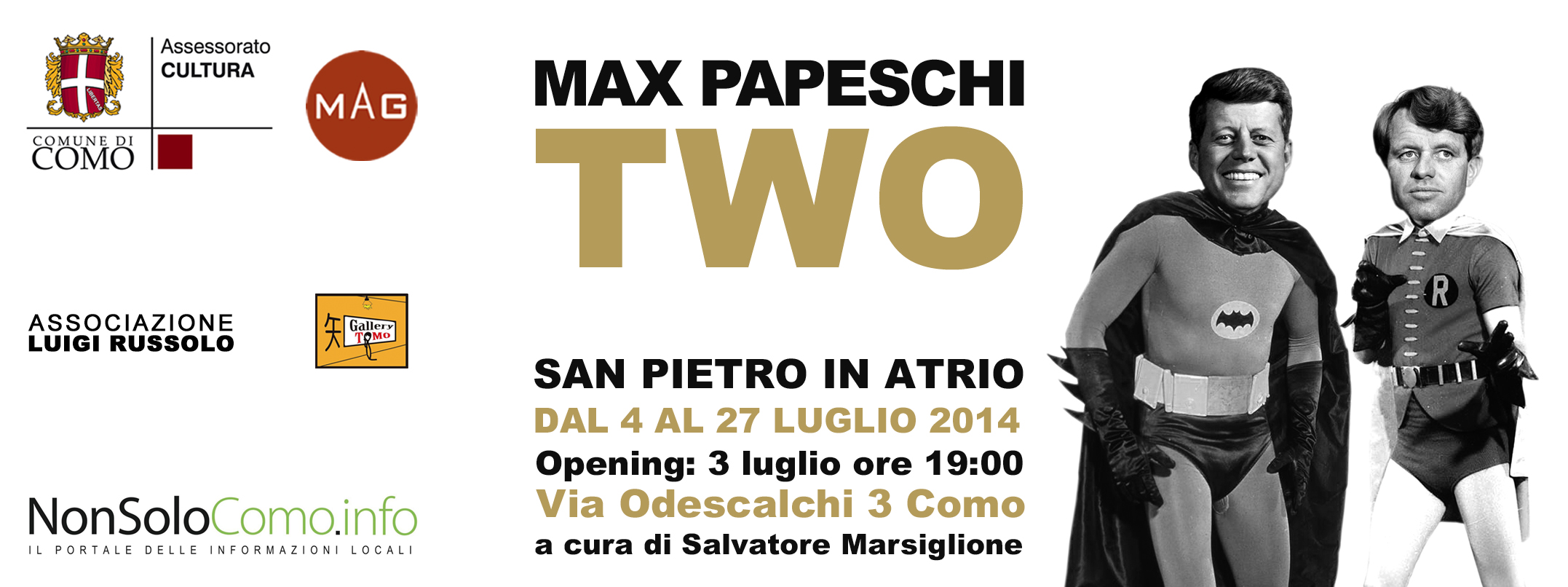Two mostra Max Papeschi Como