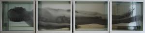 Giancarlo Marcali Uomo morente 2013 Radiografie e specchi inserite in scatola cm 40x40x10
