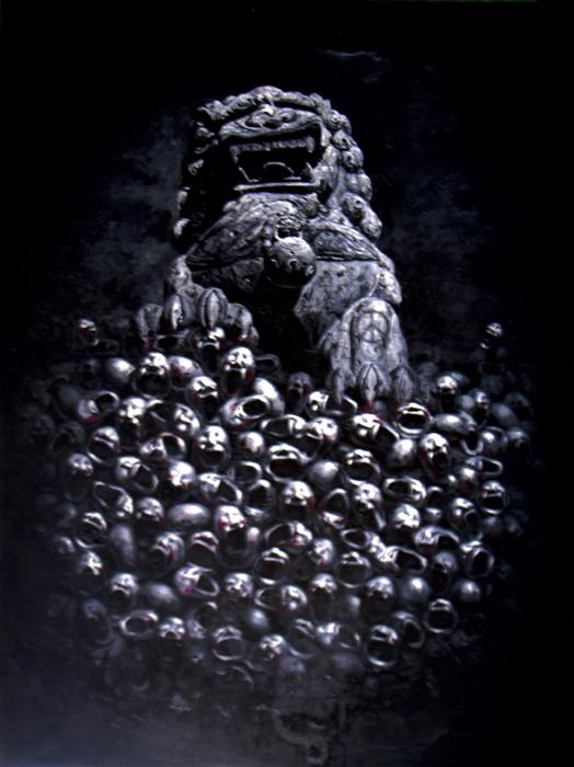 Qiuchi Chen, Play 1, 2013 olio su tela cm. 240x180