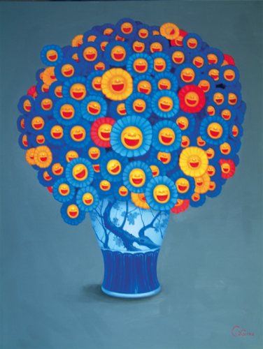 Qiuchi Chen, Porcelain & Flowers II